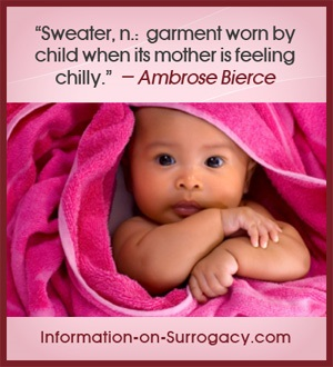 garment worn by child when its mother is feeling chilly